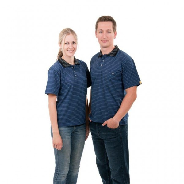 ESD Polo-Shirt, kurzarm dunkelblau Gr. M