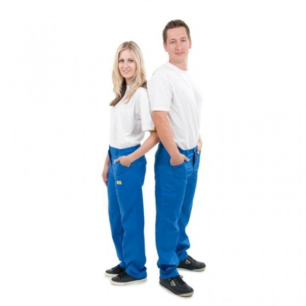 Damenhose, blau Größe 42