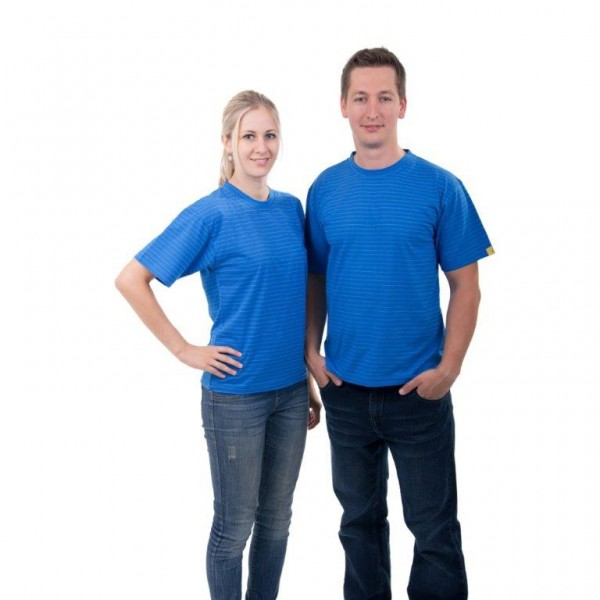 ESD T-Shirt  blau Gr.: M