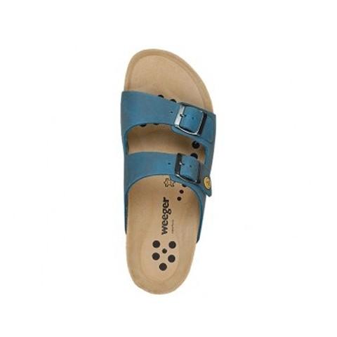 ESD Pantolette Keilabsatz blau Gr. 39