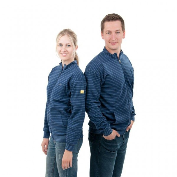 ESD Sweatshirt Jacke dunkelblau Gr. XS