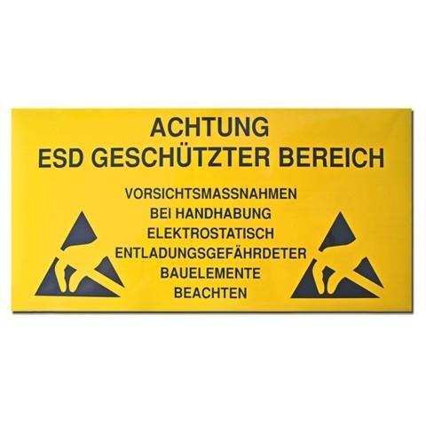 ESD Bereichsschild, 150 mm x 300 mm