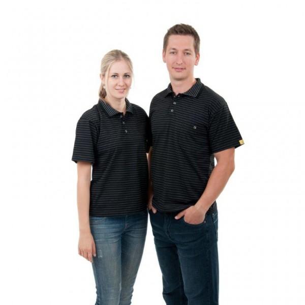 ESD Polo-Shirt, kurzarm schwarz Gr. M