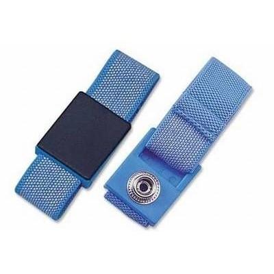 ESD Handgelenkband 10 mm DK blau