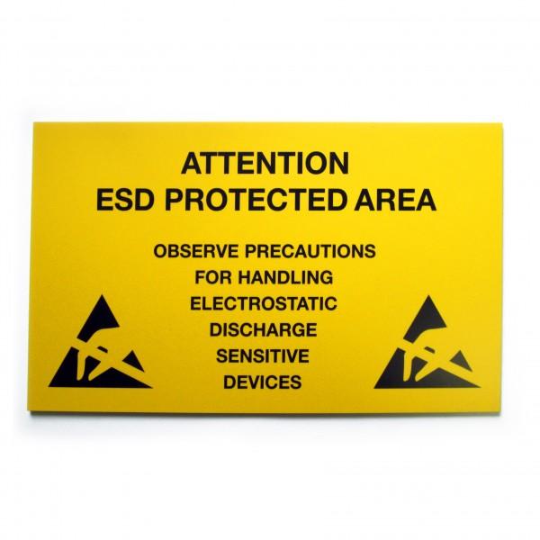 ESD Bereichsschild, 300 mm x 500 mm