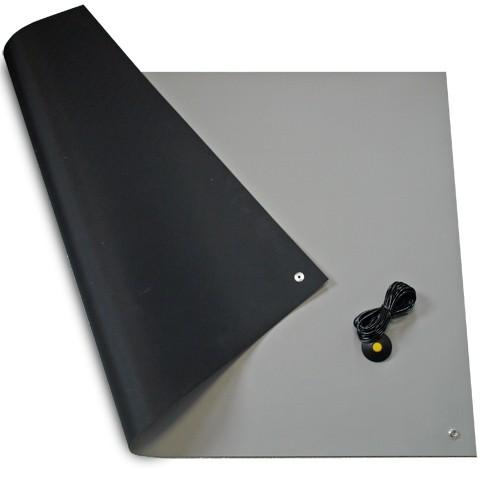 ESD Tischbelag 610 x 1200 mm, grau